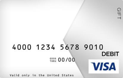 Slick Silver Visa Gift Card