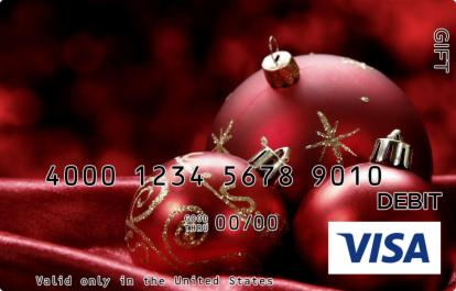 Gold and Red Visa Gift Card