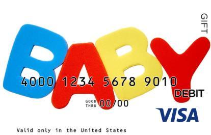 Baby Spelling Visa Gift Card
