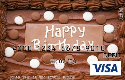 Chocolate Cake Visa Gift Card