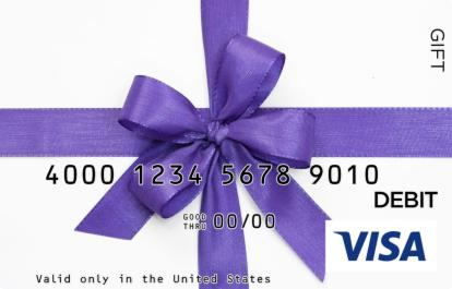 Purple Bow Visa Gift Card