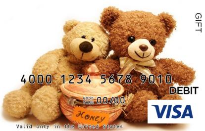 Teddy Bear Visa Gift Card