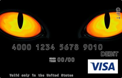Cat Eyes Visa Gift Card