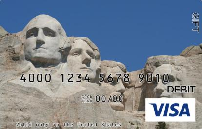 Mount Rushmore Visa Gift Card