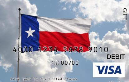Texas Flag Visa Gift Card