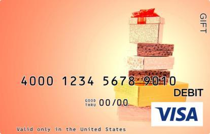 Stack of Presents Visa Gift Card