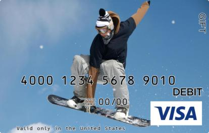 Snowboarding Visa Gift Card