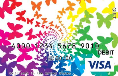 Butterfly Visa Gift Card