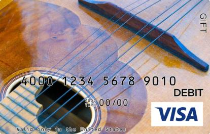 Guitar Visa Gift Card