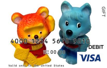 Animal Figures Visa Gift Card