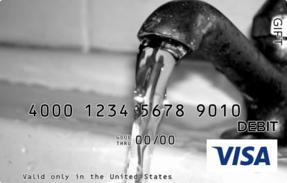 Faucet Visa Gift Card