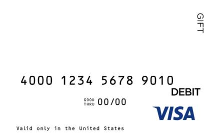 White Visa Gift Card