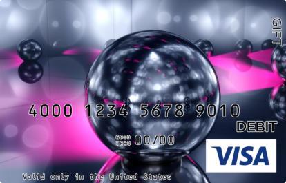 Disco Ball Visa Gift Card