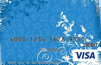 Blue Flower Visa Gift Card