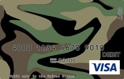 Camouflage Visa Gift Card