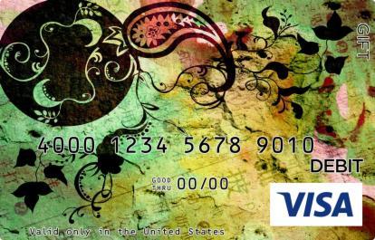 Chinese Character Visa Gift Card