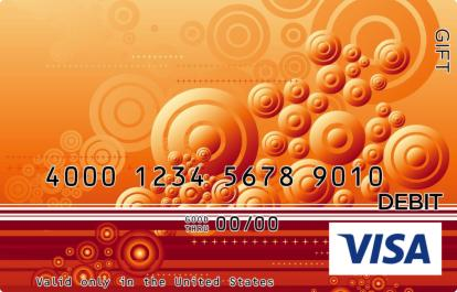 Orange Swirl Visa Gift Card