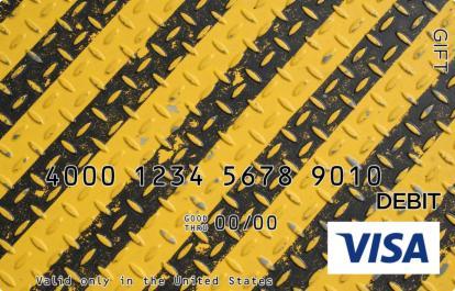 Caution Visa Gift Card