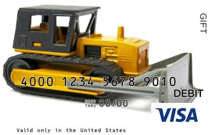 Toy Tractor Visa Gift Card
