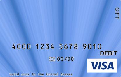 Blue Visa Gift Card