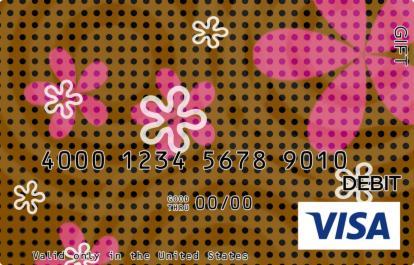 Brown Flower Visa Gift Card