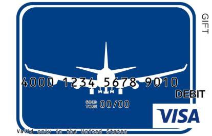 Airplane Sign Visa Gift Card