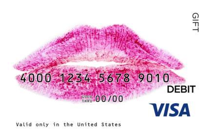 Lipstick Visa Gift Card
