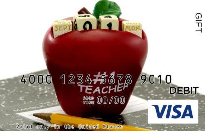 Teachers Apple Visa Gift Card