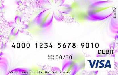 Green Translucence Visa Gift Card