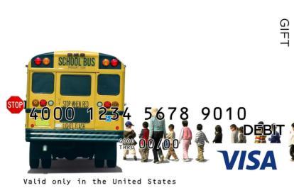 School Bus Visa Gift Card