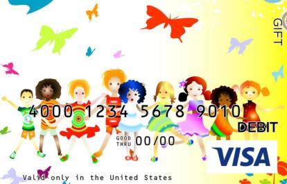 Girls and Butterflies Visa Gift Card