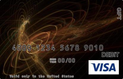 Black Swirls Visa Gift Card