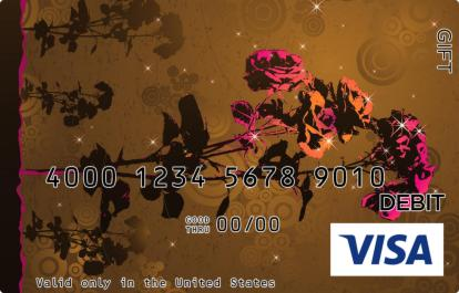 Abstract Roses Visa Gift Card