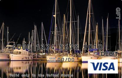 Boats at Harbor Visa Gift Card