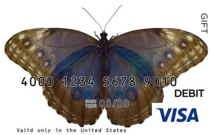 Live Butterfly Visa Gift Card