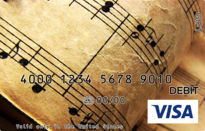 Musical Manuscript Visa Gift Card