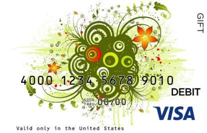 Funky Design Visa Gift Card