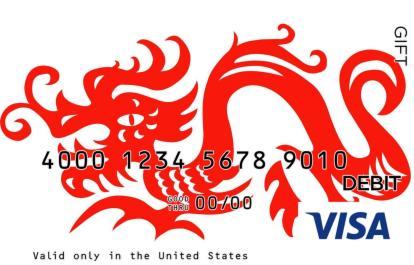 Cartoon Dragon Visa Gift Card