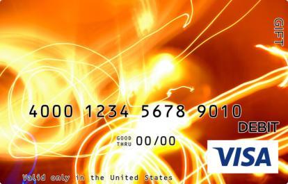 Laser Show Visa Gift Card