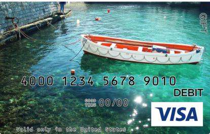 Anchored Boat Visa Gift Card