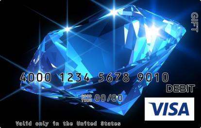 Blue Diamond Visa Gift Card