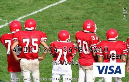 Football Sidelines Visa Gift Card
