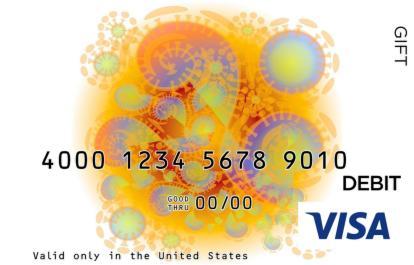 Colorful Visa Gift Card