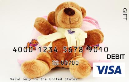 Pink Teddy Visa Gift Card