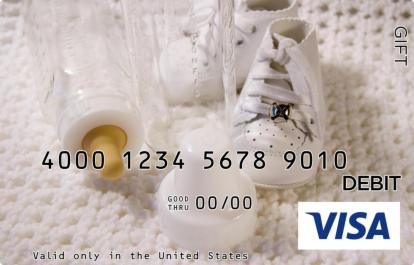 Baby Shoes Visa Gift Card