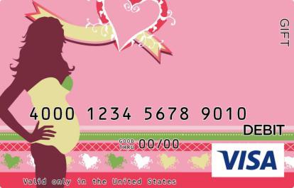 Pregnancy Silhouette Visa Gift Card
