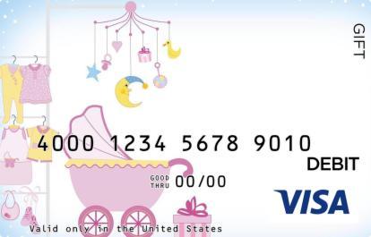 Baby Girl Carriage Visa Gift Card