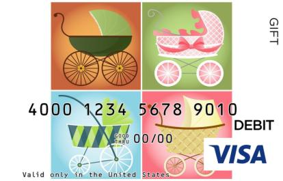 Abstract Carriages Visa Gift Card