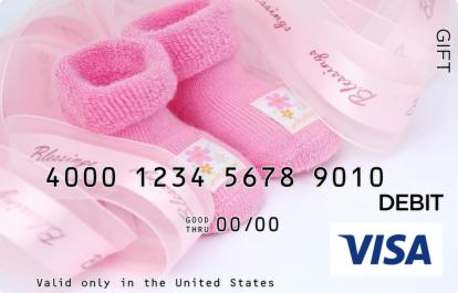 Pink Booties Visa Gift Card