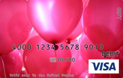 Balloons Visa Gift Card